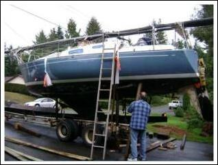The right equipment to transport sailing vessel